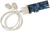 Low Profile PCI Express 2-Port RS-232, RS-422, RS-485 Serial Interface -- 7205ec