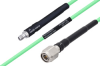 Temperature Conditioned SMA Female to TNC Male Low Loss Cable 48 Inch Length Using PE-P142LL Coax -- PE3M0138-48 -Image