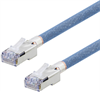 Category 5e Aerospace Ethernet Cable High-Temp SF/UTP FEP Blue RJ45, 1.0ft -- T5A00018-1F -Image