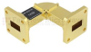 WR-62 Waveguide H-Bend Instrumentation Grade Using UG-419/U Flange With a 12.4 GHz to 18 GHz Frequency Range -- SMF-62HB-001 -Image