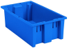 Akro-Mils 0.5 ft, 3.7 gal 45 lb Blue Industrial Grade Polymer Stackable Tote - 18 in Length - 11 in Width - 6 in Height - 35180 BLUE -- 35180 BLUE - Image