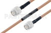 MIL-DTL-17 TNC Male to TNC Male Cable 18 Inch Length Using M17/128-RG400 Coax -- PE3M0084-18 -Image