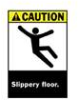 Brady ANSI Z535 Safety Signs (CAUTION): Slippery Floor -- sf-19-038-302 - Image