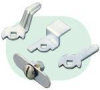 Coin Slotted Panel Latch -- MNAT15MTL94-004 - Image