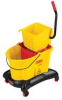 Rubbermaid WaveBrake® Dual-Water Combo with Sideward Pressure Wringer - 35 Quart -- RM-7680YEL