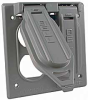 Two Gang Weatherproof Box Mount Cover - (2) Duplex -- 5096-0