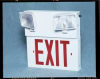 Emer Exit Sign,Incand.,120/277V,12W,Wht -- 3UWA2