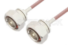7/16 DIN Male to 7/16 DIN Male Cable 48 Inch Length Using RG142 Coax -- PE3189-48 -Image