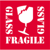 "4"" x 4"" - ""Fragile - Glass"" Labels -- DL1282"