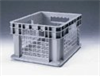 """Mesh-Walled Storage Container, HDPE, Stackable, 16 x 12 x 8"""" -- GO-47530-00 -- View Larger Image"""