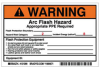 Preprinted Arc Flash Labels, Hazard Category 2 (Warning) -- 121099