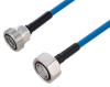 Plenum 7/16 DIN Male to 7/16 DIN Female Low PIM Cable 48 Inch Length Using SPP-250-LLPL Coax Using Times Microwave Parts -- PE3C6182-48 -Image