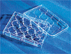 12 Well Cell Culture Microplates Corning CellBIND 12 Well Microplate, Flat Bottom, Clear, w/ Lid, Sterile -- 1251258
