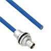 Halogen Free Cable Assembly TRB Insulated Bulk Head Jack 3-Lug Cable Jack to Blunt MIL-STD-1553 .242