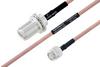 MIL-DTL-17 N Female Bulkhead to TNC Male Cable 12 Inch Length Using M17/60-RG142 Coax -- PE3M0022-12 -Image