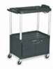 Audio-Visual cart with locking cabinet, 3 shelves, 42