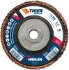 4-1/2 Tiger Angled (Radial) Ceramic Flap Disc 40C 5/8-11 Nut -- 51315 - Image