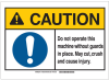 Brady B-555 Aluminum Rectangle White Personal Protection Equipment (PPE) Sign - 14 in Width x 10 in Height - 143951 -- 754473-96590