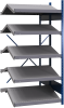 B-to-back open shelving, sloped shelves (add-on unit for series) -- SRB1T-EE751001B - Image