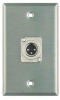 Wall Plate, 1 XLRM Connector, 1 Gang -- 7782 - Image