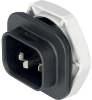 IEC Appliance Inlet with protection degree IP67 / IP69K, Screw-on Mounting front side, Solder or Quick-connect Terminal -- 4761 -Image