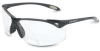 North A900CSA Polycarbonate Magnifying Reader Safety Glasses Clear Lens - Black Frame - Wrap Around Frame - 040025-001132 -- 040025-001132