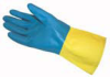 Fisherbrand Flock-Lined Neoprene/Latex Double-Dipped Gloves -- se-19-816-834