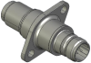 Honeywell Harsh Application Aerospace Proximity Sensor, HAPS Series, Inline cylindrical flanged form factor, 2,50 mm/3,50 range, 3-wire open collector output normally open, EN2997Y10803MN termination, -- 1PCFD3CCNN-000 -Image