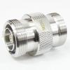 7/16 DIN Female (Jack) to 7/16 DIN Female (Jack) Adapter, Tri-Metal Plated Brass Body, 1.15 VSWR -- SM3386 - Image
