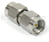 Precision SMA Male (Plug) to SMA Male (Plug) Adapter, Passivated Stainless Steel Body, High Temp, 1.15 VSWR -- SM4985