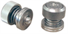 Captive Panel Screw-Low Profile Knob, Spring-loaded - Metric -- PF52-M4-0-BN-2 -Image