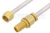 2.92mm Male to 2.92mm Female Bulkhead Cable 36 Inch Length Using PE-SR402AL Coax -- PE34743-36 -Image