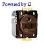 Single, w/Short Strap Brown 15A 125V AC 2P -- 78358501422-1