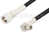 SMC Plug to SMC Plug Right Angle Cable 60 Inch Length Using RG174 Coax, RoHS -- PE33556LF-60 -Image