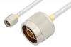 SMA Male to N Male Cable 18 Inch Length Using PE-SR402FL Coax, RoHS -- PE3448LF-18 -Image