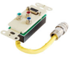 RapidRun® DB9 + RCA Component Video Wall Plate - Ivory -- 2212-42174-001 - Image