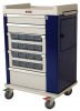OptimAl Line, Aluminum 16 Bin Cassette Medication Cart .. -- AL16CS -- View Larger Image