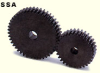 100mm PD Steel, Hubless Spur Gears -- SSA5-20 - Image
