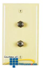 Allen Tel Plastic Duplex Flush Wall Plates with Two F-81.. -- CT102FF - Image