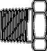 Short Hex Reducer Bushing -- 5406-E-16-04