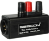 Sescom SES-MKP-21 Professional Male XLR 3 Binding Post Line Tap Adapter -- SES-MKP-23