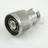 N Female (Jack) to TNC Male (Plug) QD Adapter, Tri-Metal Plated Brass Body, High Temp, 1.3 VSWR -- 33TNC-N-Q50-4/133 - Image