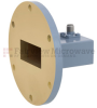 WR-137 to SMA Female Waveguide to Coax Adapter UG-344/U Round Cover Standard with 5.85 GHz to 8.2 GHz C Band in Copper, Paint -- FMWCA1014 - Image