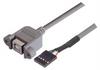 USB Type B Adapter, Female Bulkhead/Female Header 1.0m -- UPMB5-1M