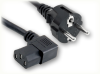 CEE 7/7 EURO SCHUKO to IEC-60320-C13 RIGHT ANGLE HOME • Power Cords • International Power Cords • Europe Power Cords -- 8501.180 -Image