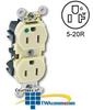 Leviton 20 Amp, 125 Volt, Hospital Grade Duplex Receptacle -- M8300 - Image