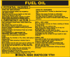 Brady B-928 Black on Yellow Rectangle Vinyl Hazardous Material Label - 4 1/2 in Width - 3 2/4 in Height - Printed Text = FUEL OIL - 93543 -- 754476-93543