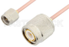 SMA Male to TNC Male Cable 36 Inch Length Using RG405 Coax, RoHS -- PE33420LF-36 -Image