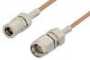 SMA Male to SMB Plug Cable 6 Inch Length Using RG178 Coax, RoHS -- PE3548LF-6 -Image