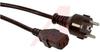 Cord, Power 10 A 2.5 m Black Plug 3 1 MM -- 70116090 - Image